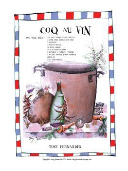 Coq au Vin - signed print